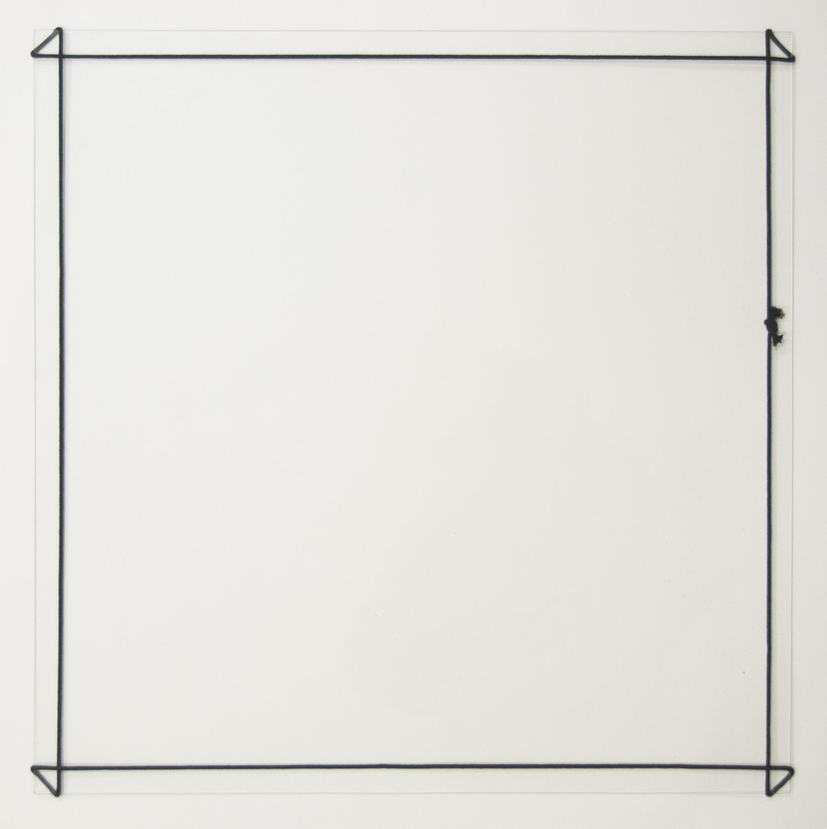 Vierkant van zwart koord 2