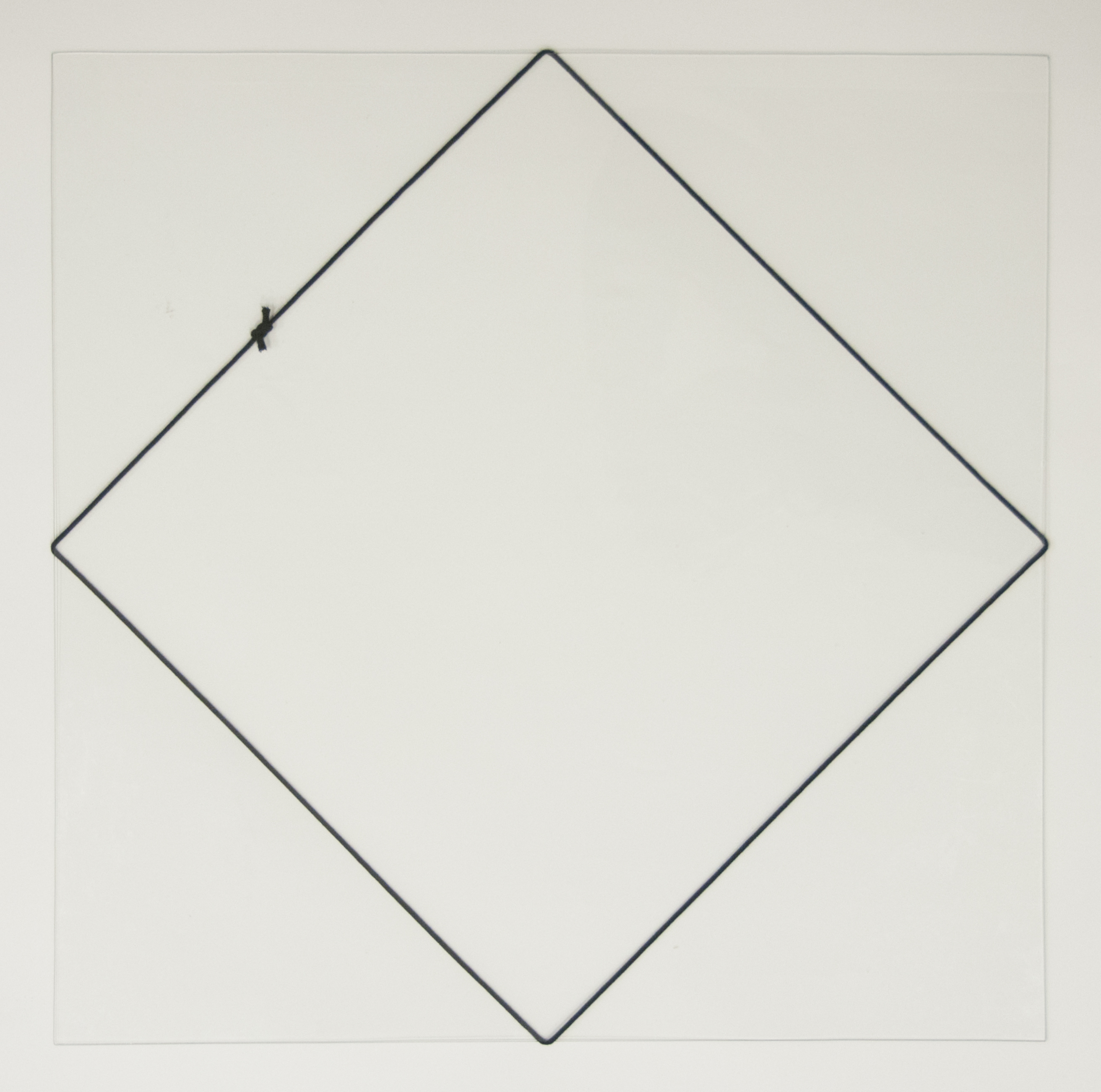 Vierkant van zwart koord 1
