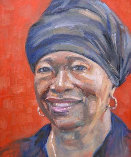 Portret van een zwarte vrouw