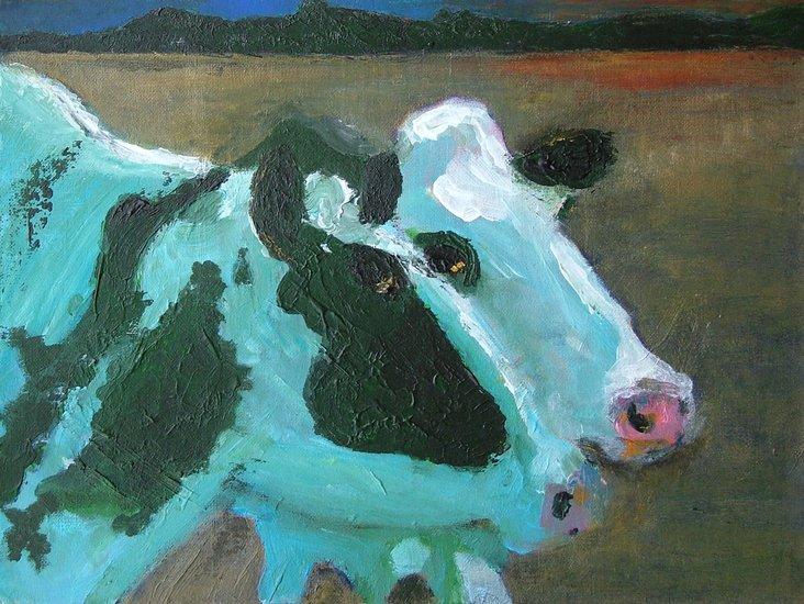 Onderonsje (Twee koeien)