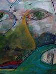 Tweede serie gezichten, die bestaat uit werken die ik in 2005 ben begonnen. Over een aantal was ik niet tevreden. Nu krijgen ze een tweede kans.....