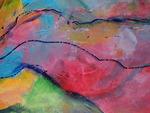 Op de grens van abstractie en figuratie ben ik begin 2010 een nieuwe reis door het schilderen begonnen. Het was een ontdekkingstocht, wat te zien is in de opeenvolgende werken. Maar een die spanning, plezier en bevrediging oplevert.