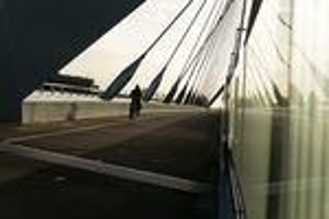 stedelijk gebied, bruggen en kunst
