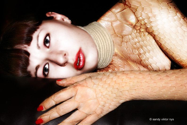 as a snake