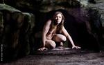 Rituele evocatie van vrouwelijk naakt ingesmeerd met klei, model : Karen, Aug 2011