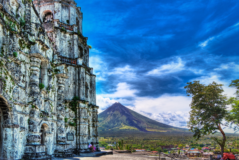 Uitzicht op Mayon vulkaan