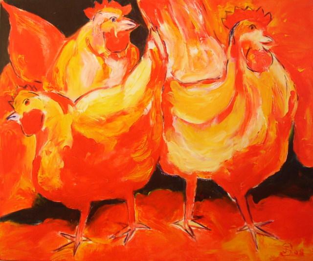 rode kippen