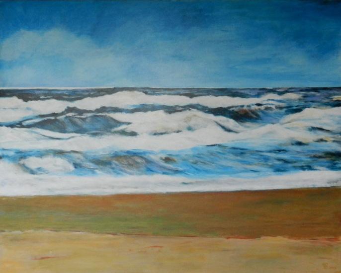 hoge golven noordzee bij Bloemendaal