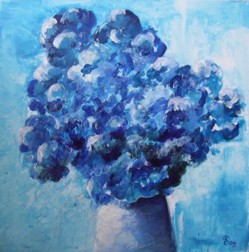 blauw stilleven