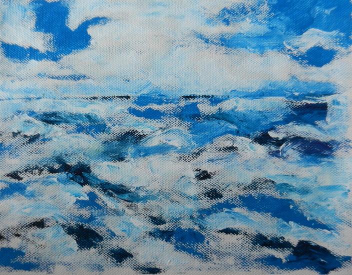 blauw landschap