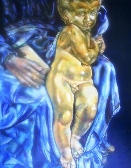 Uitsnede Madonna en Kind