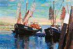 Om te kunnen schilderen in Amsterdam kocht ik in 1983 boot Marlé. Na verkoop vond ik in 1991 een boot type 'beenhakker' in de Zeeuwse jachthaven te Scharendijke. Ook schilderde ik vaak in Zierikzee en in Ouddorp.
