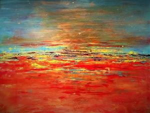 expressionistisch abstract werk van mij. Ik werk vanuit het onderbewust in een abstract karakter.