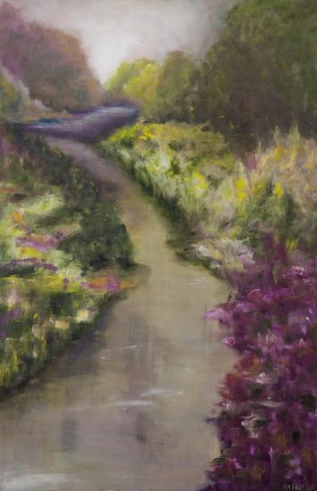 landschap in pastel