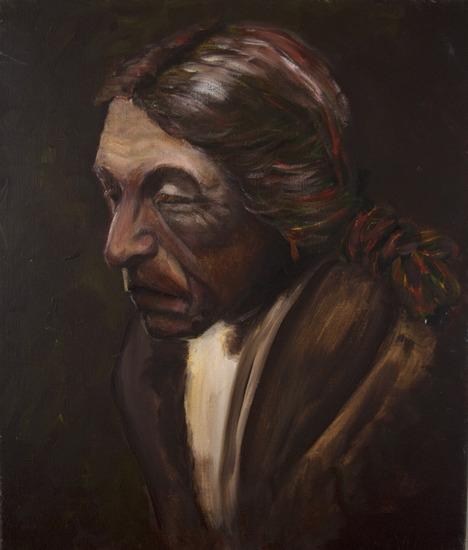 portret van indiaan