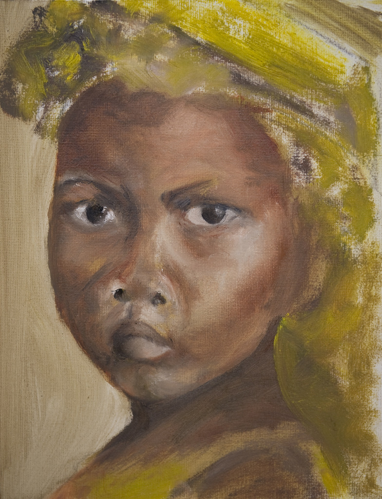 portret van afrikaans meisje