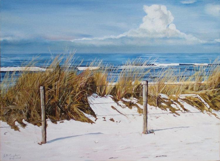 Sneeuw aan de kust