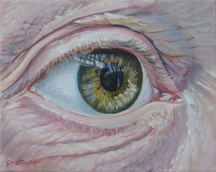 Poppetjes in de ogen