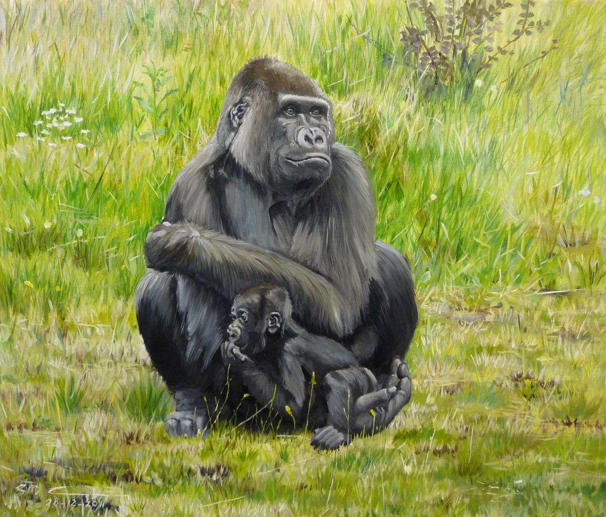 Gorilla moeder