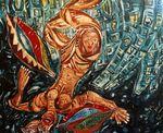 De serie 'Reis naar Ithaca' bevat ruim 10 schilderijen. Hieronder vindt u een selectie uit deze serie. De serie is in Duitsland in diverse steden tentoongesteld.