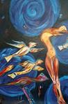 De serie 'Genesis' bestaat uit precies 12 schilderijen. Hij in tentoongesteld geweest in meerdere steden. Er zitten in deze serie twee tweeluiken.