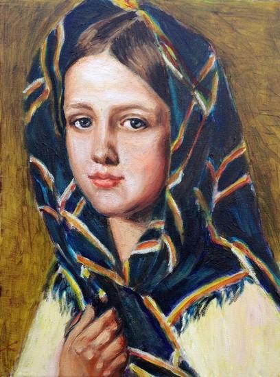 meisje in een hoofddoek