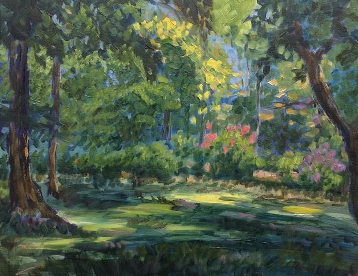 Groen zomerlandschap