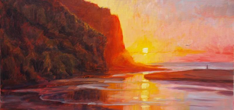 Rots zonsondergang