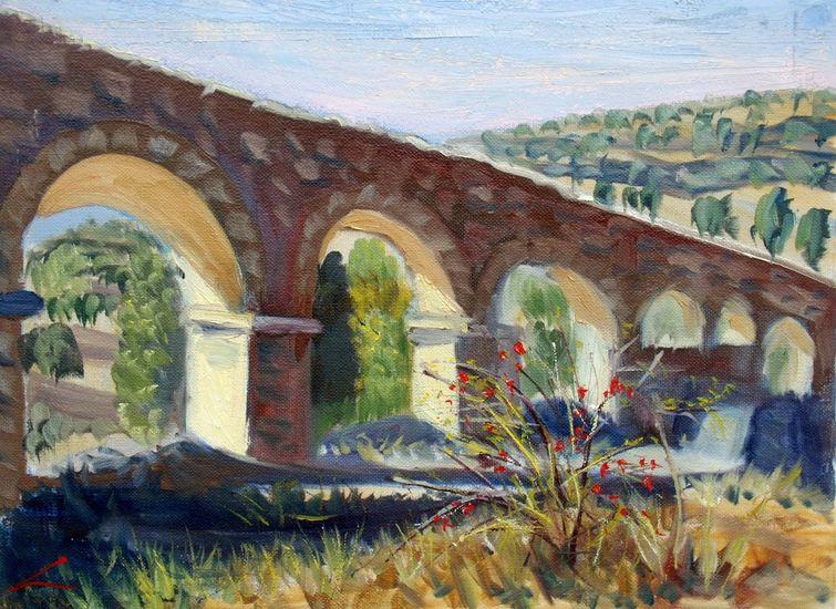 Aquaduct in de buurt van Pedraza