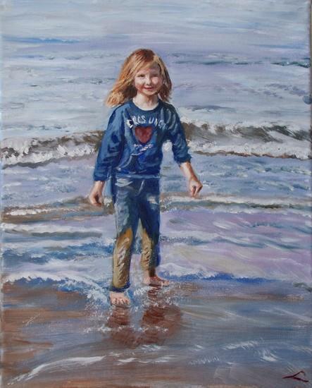 Gelukkig met zee en zand