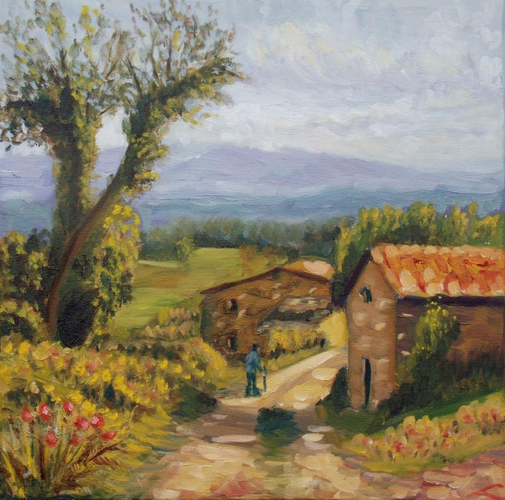 Toscane boerderijweg