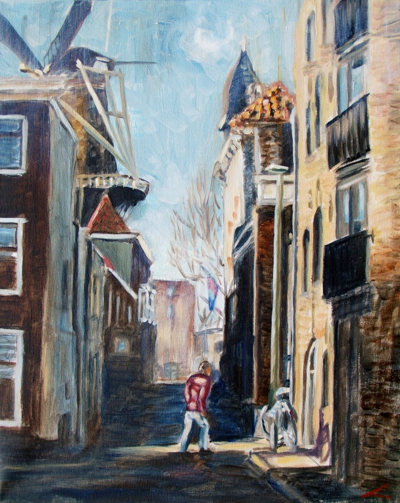 De straat van Schiedam