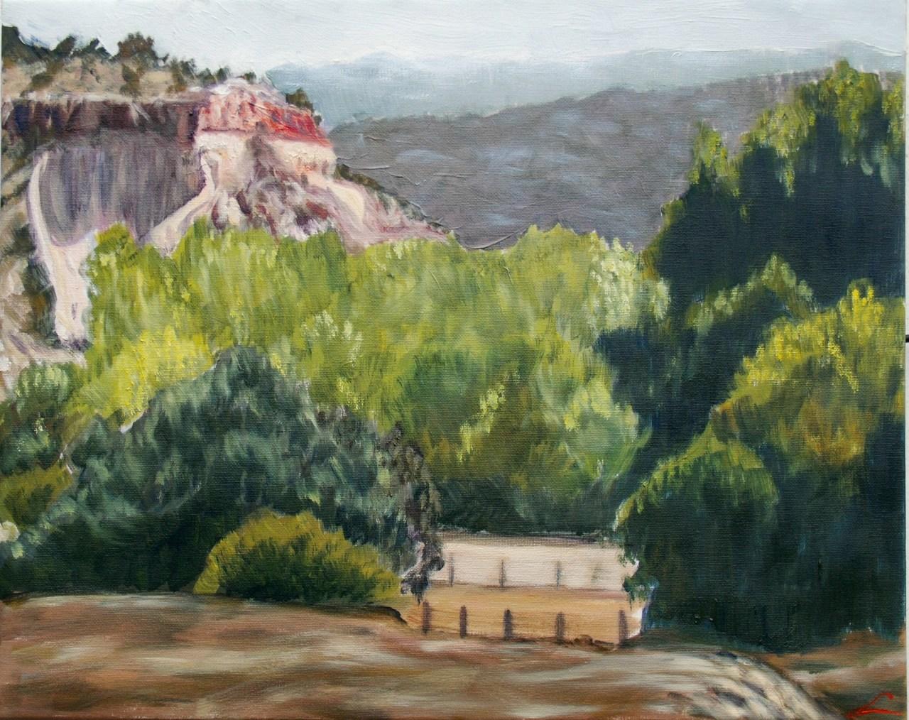 Landschap met een rots