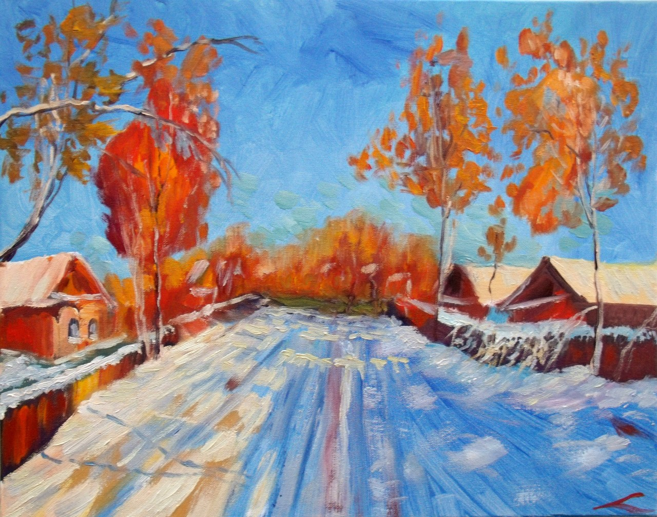 Zonnige winter dag