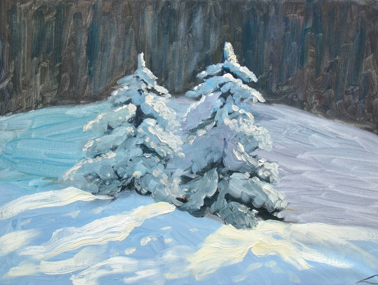 Winter bomen 2