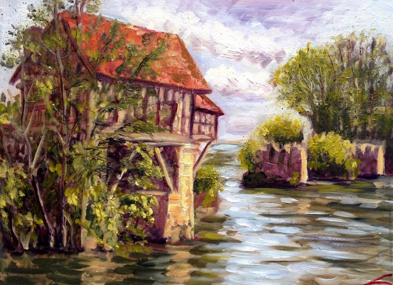 De oude molen van Vernon