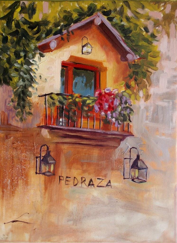 balkon in bloei