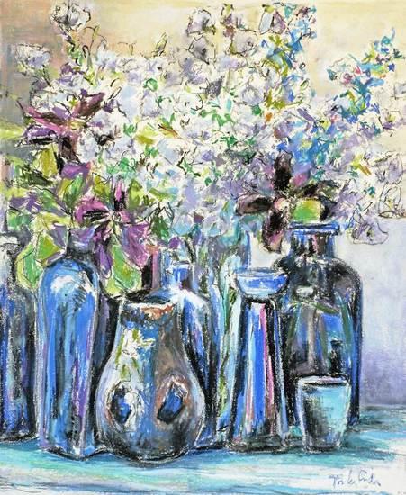 Voorjaarsarrangement in blauw