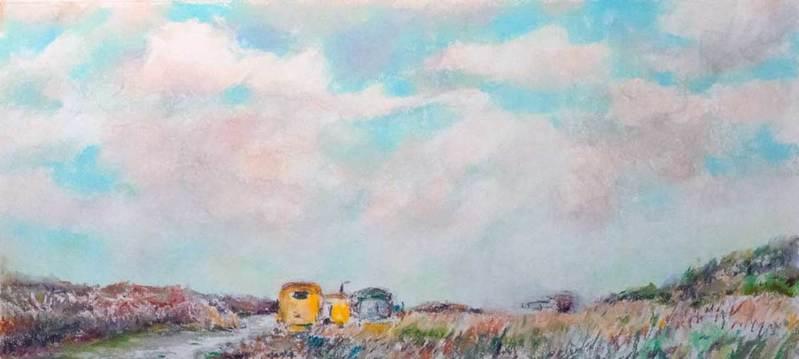 Atelier Schier op het strand