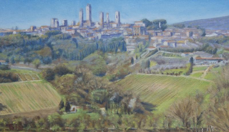Lentelicht op San Gimignano