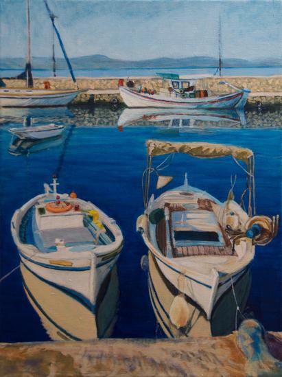 Ochtendkalmte Evia Griekenland