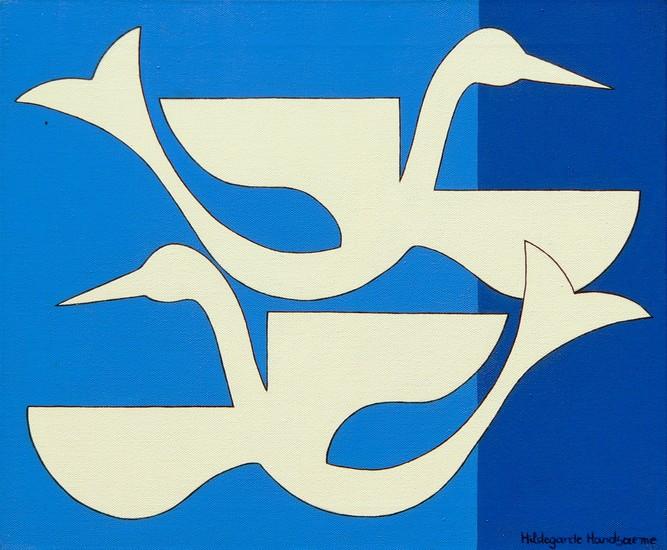 Duo blauwe vogel