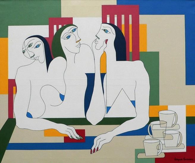 Three women around the table
