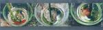 Serie kunstwerken, opgebouwd uit drie beelden, die samen één beeld vormen