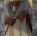 Serie kunstwerken van handen en voeten van mensen (in Ethiopië)