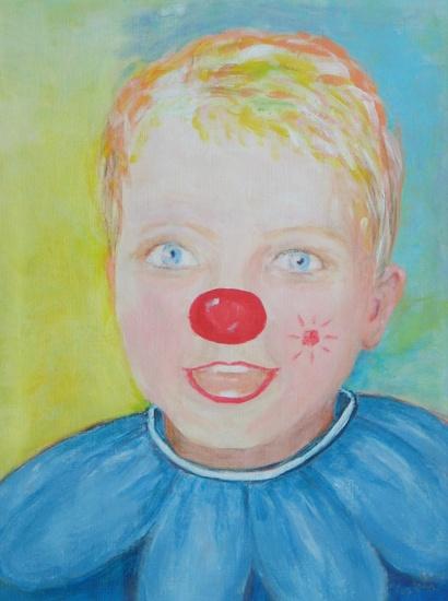 Meisje als clown