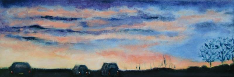 Zonsondergang op Houtribdijk Lelystad