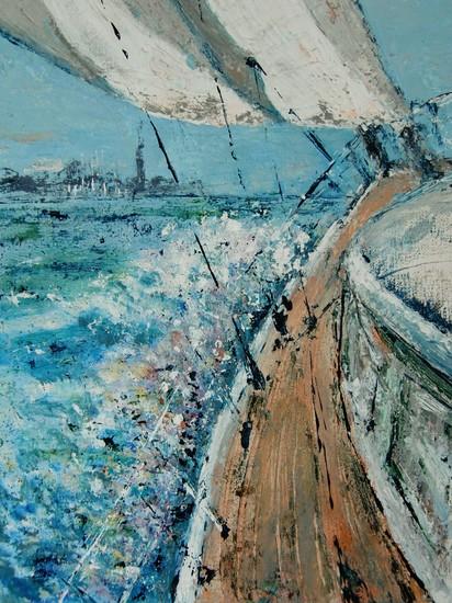In het zicht van de haven