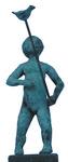 Bronzen beelden van spelende kinderen