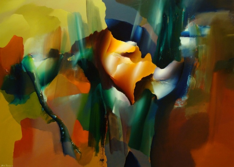 Paintings professional modern dutch artist arie koning on commission
